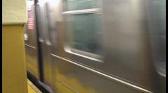 New York Subway Train Speeding Up Stock Footage