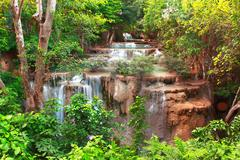 Huay mae kamin waterfall Stock Photos
