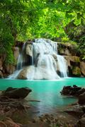 huay mae kamin waterfall - stock photo