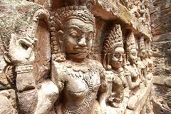 king terrace ,angkor thom - stock photo