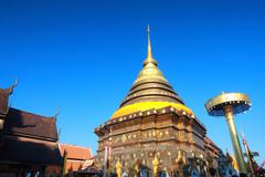 Wat phra that lampang luang Stock Photos