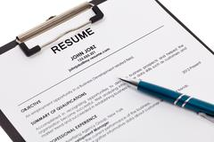 Resume isolated Stock Photos