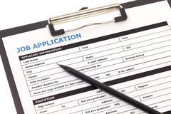 Job application Stock Photos