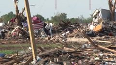 Flag Zoom Out Moore OK Stock Footage