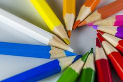 coloured pencil - stock photo