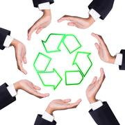 recycle is important - stock illustration