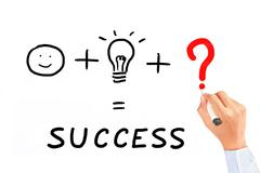drawing necessary thing for success - stock photo
