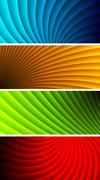 Stock Illustration of Simple vibrant banners