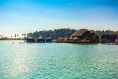 Bang bao village in koh chang island beach,thailand Stock Photos