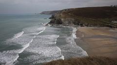 Porthtowan beach near St Agnes Cornwall England UK Stock Footage