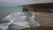 Stock Video Footage of Porthtowan beach near St Agnes Cornwall England UK