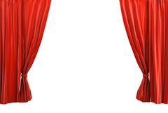 red curtain classic style - stock illustration