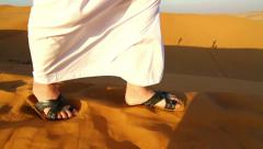 Arab man at  praying,and on the move Stock Footage