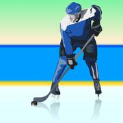 Ice hockey players. vector illustration Stock Illustration