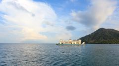 koh chang thailand ferry boat - stock photo