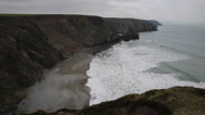 Stock Video Footage of Portreath North Cornwall England UK between St Agnes and Godrevy