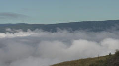 Weather, time-lapse, nice big cloud action above valley Stock Footage