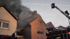 Brand eines Wohnhauses 1 Stock Footage