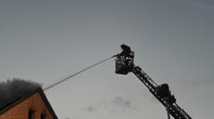 Brand eines Wohnhauses 4 Stock Footage