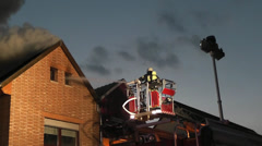 Brand eines Wohnhauses 6 Stock Footage