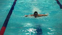 Sports swimming Butterfly stroke Stock Footage