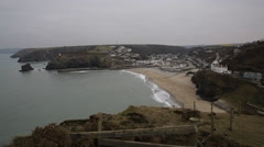 Portreath North Cornwall England UK between St Agnes and Godrevy Stock Footage