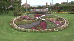Polson Park floaral clock Stock Footage