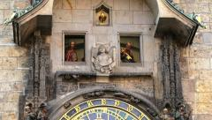 Prague Astronomical Clock_Old Town Square_Czech Republic Stock Footage