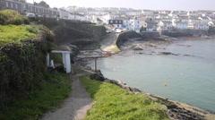 Portscatho harbour Cornwall south west coast of England UK Stock Footage