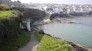 Stock Video Footage of Portscatho harbour Cornwall south west coast of England UK