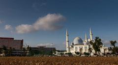 Timelapse - Masjid Negri Sultan Ahmad Shah Mosque, Kuantan, Malaysia Stock Footage