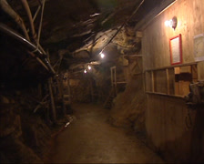 ROROS - Pan underground tunnel and battery park in Olavs Mine or Olavsgruva Stock Footage