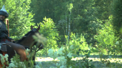 Tartars on horseback, a historical re-enactment Stock Footage