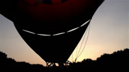 Stock Video Footage of Airballoon is filled with gas and fire, slowmotion
