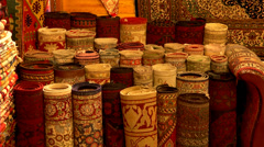 Turkish Carpet in Grand Bazaar - stock footage