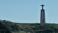 Stock Video Footage of Europe Portugal Lisbon riverside 052 passing the christ statue