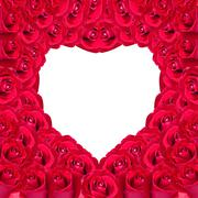 Beautiful heart of red rose useful for some valentine concept Stock Photos