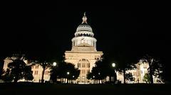 Texas State Capitol Building Austin yöllä Kuvituskuvat