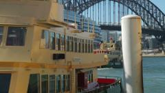 Sydney ferry at circular quay, sydney, australia Stock Footage