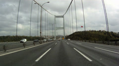 Road of Bosporus Bridge in Istanbul Stock Footage