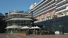 Oosterdam cruise ship moored at cruise ship terminal, circular quay, sydney Stock Footage