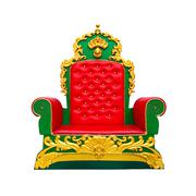 luxury red leather armchair isolated on white background - stock photo