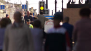 Stock Video Footage of Crowd Pedestrians on Nevsky Prospekt in St Petersburg