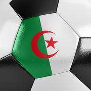 algeria soccer ball - stock illustration