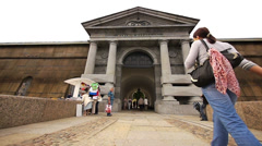 Neva Gates of the Peter and Paul Fortress St Petersburg Stock Footage
