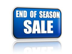 Stock Illustration of end of season sale blue banner