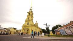 Peter and Paul Cathedral St Petersburg Russia Stock Footage