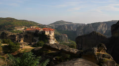 Greece, Meteora, monastery Holy Trinity - stock footage