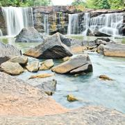 waterfall in national park ,chaiyaphum province in northeast of thailand. - stock photo