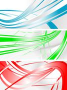 Vibrant banners - stock illustration